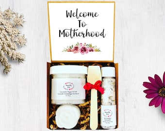 Welcome To Motherhood Spa Gift Set, Postpartum Care Package, Pregnancy Care Package, Spa Gift Box For Women, Gift For New Mom,Mom To Be Gift