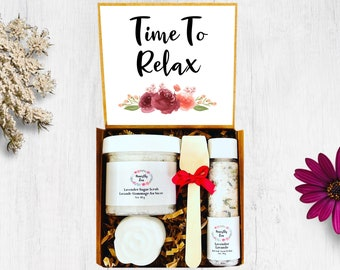 Time To Relax Spa Gift Set, Relaxation Spa Gift Box, Self Care Spa Gift, Zen Care Package, Retirement Spa Gift Box, Spa Gift Box For Women