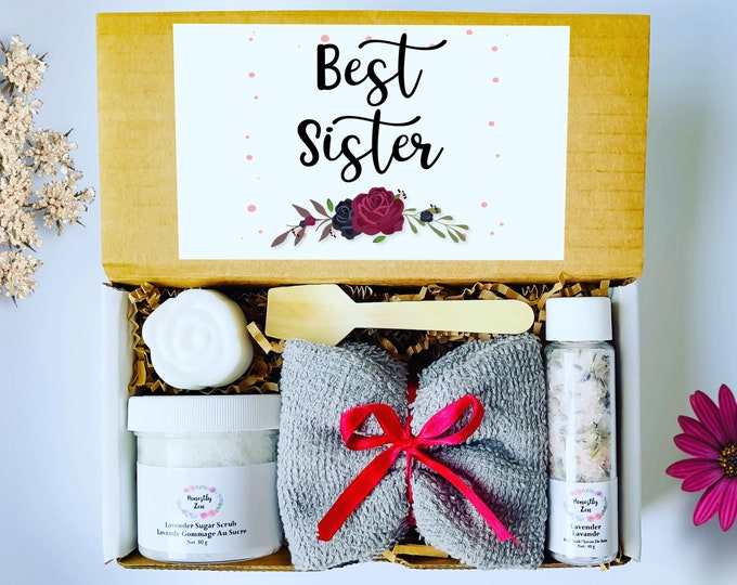 Gift Box For Sister, Bridesmaid Spa Gift Box, Care Package, Spa Gift Box For Women, Gift For Best Friend, Wedding Proposal Gift