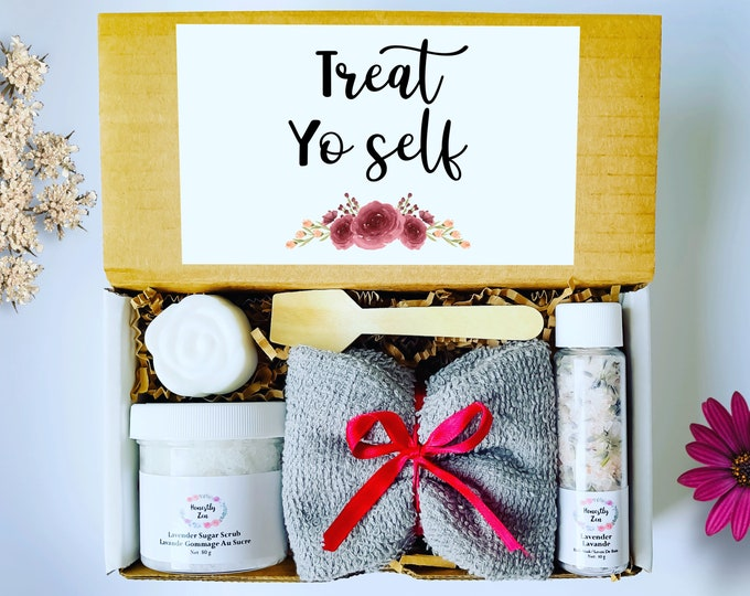 Self Care Gift Box, Treat Yo Self Gift Box, Relaxation Spa Gift Box, Care Package For Women, Spa Gift Box For Her, Stress Releasing Spa Gift