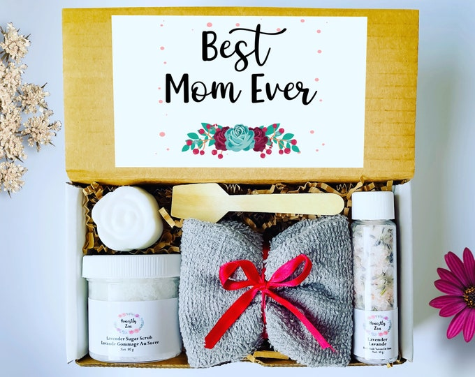 Best Mom Ever Spa Gift Set, Mom Care Package, Mothers Day Gift Box, Spa Gift box for Mom, Care Package For Her, Mom Birthday Gift, Mom Gift