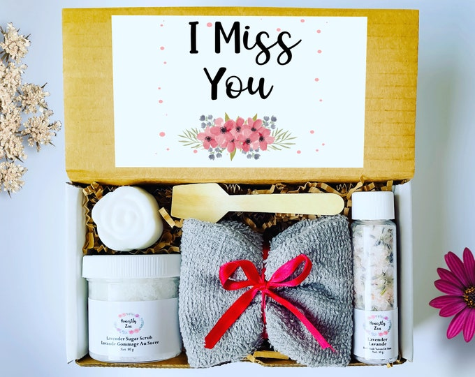 I Miss You Spa Gift Set, Zen Care Package, Spa Gift Box For Women, Thinking Of You Care Package, Miss You Care Package, Wedding Gift