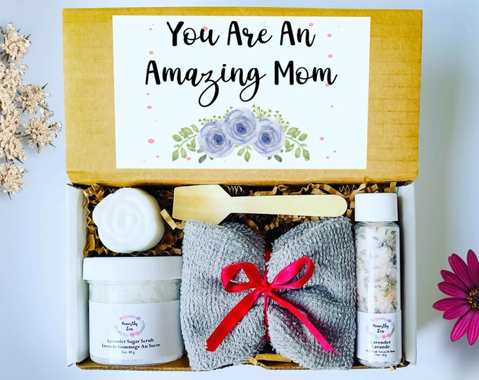 You Are An Amazing Mom Spa Gift Set, Mom Care Package, Mothers Day Gift Box, Spa Gift box for Mom, Care Package For Her, Mom Birthday Gift