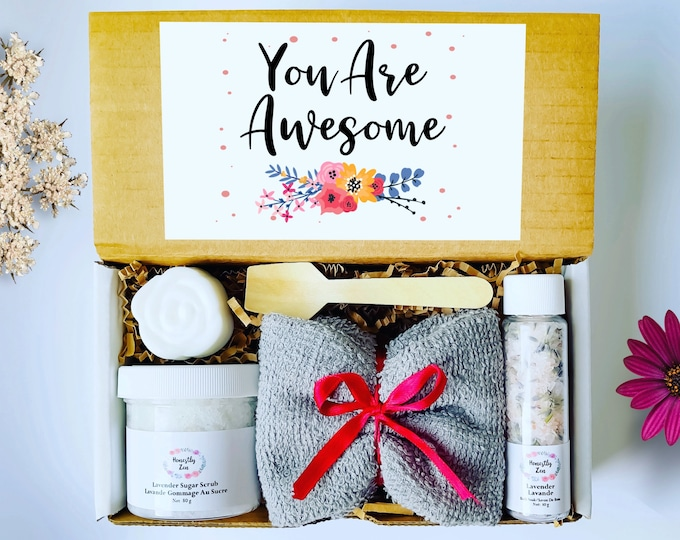 You Are Awesome Gift Box, Inspirational Gift Box, Motivational Gift Box, Encouragement Gift Box, Care Package For Her, Spa Gift For Women