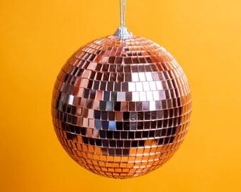 """6"""" Rose Gold Disco Ball Mirror Ball - THE EBBA"""