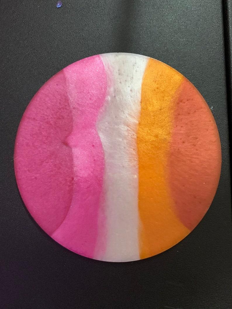 Lesbian pride circle coaster
