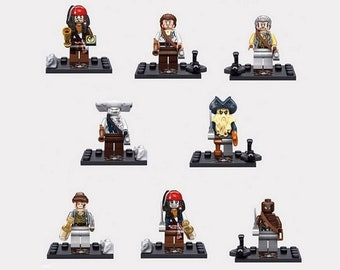 8 Pirate Figures of the Caribbean