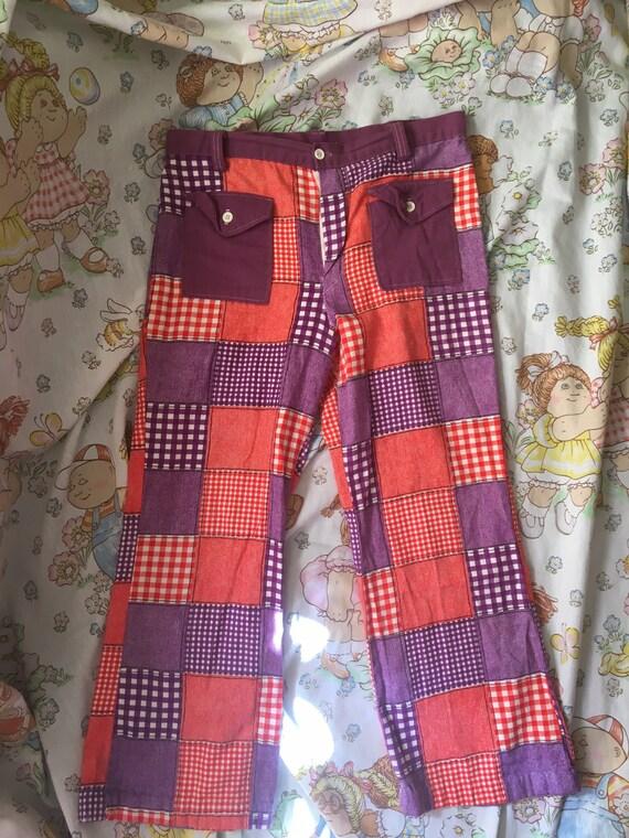 Vintage 1970s patchwork pants Montgomery ward