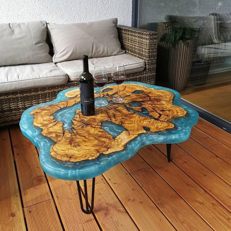 Monterey Cypress Slab Epoxy Table