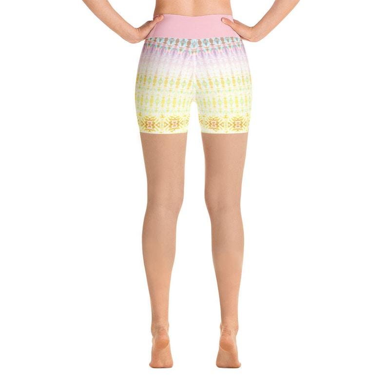 Pink Sherbert Tie Dye High Waisted Shorts