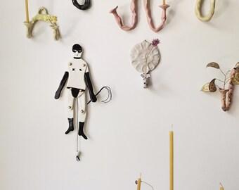 "Porcelain doll ""Hampelmann"" Anna"