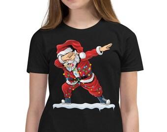 Dabbing santa kids Shirt, Christmas santa shirt for kids, 2021 Christmas trend for kids, 2021 Christmas family shirts