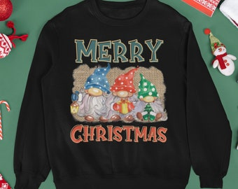Merry Christmas gnome sweatshirt, Gonk christmas Sweatshirt, Cute gnome sweatshirt, funny Christmas sweatshirt, 2021 christmas sweatshirt