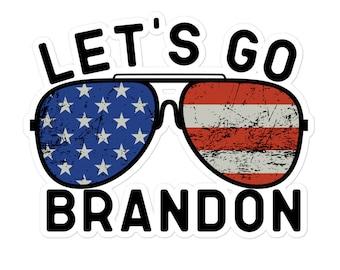 Let's Go Brandon Sticker, lets go Brandon sticker, go Brandon, Vinyl Decal Sticker for car laptop