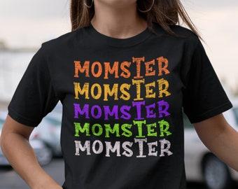 Momster Shirt, momster halloween shirt,halloween shirt for women, halloween shirt for mom, funny halloween women shirt,