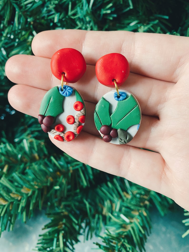 The Winter Woods Collection Medium Oval Dangles