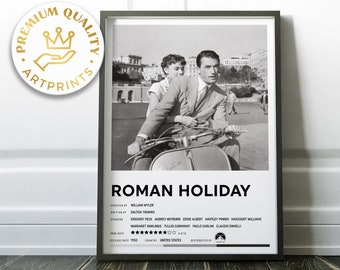 Roman Holiday B&W Wall decor - High quality print