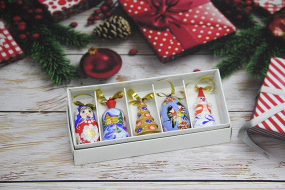 Wood Christmas Tree Decorations Hand Painted Home Decor Handmade Christmas Gift Wooden Christmas Ornaments