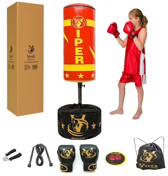 2020 Kids Punching Ball Bag Boxing Punch Exercise Sports Set With Gloves BT