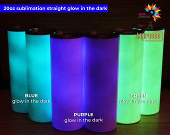 Blank STRAIGHT Glow in the Dark 20 oz  Sublimation Tumbler (Non-Tapered)