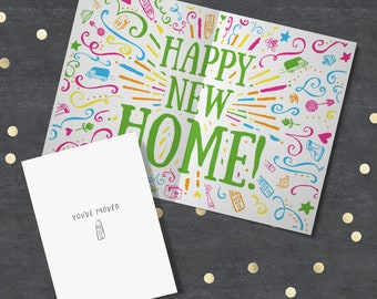New Home card, Happy New Home, Moving Card, New House Card, Moved House Card, Housewarming Card, New Home Gift, Greeting Card New Home.