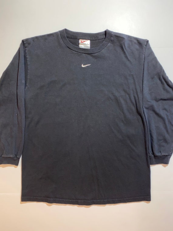 Vintage Nike Center Swoosh Black Long Sleeve Shirt