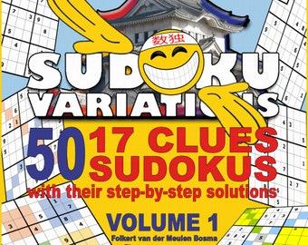 Direct Print eBook 50 17 Clues Sudoku Variations Educational Sudoku Beginner Advanced Professional Students Adults Seniors Brain Teasing