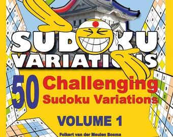 Direct Print eBook 50 Challenging Sudoku Variations Educational Sudoku Beginner Advanced Professional Students Adults Seniors Brain Teasing