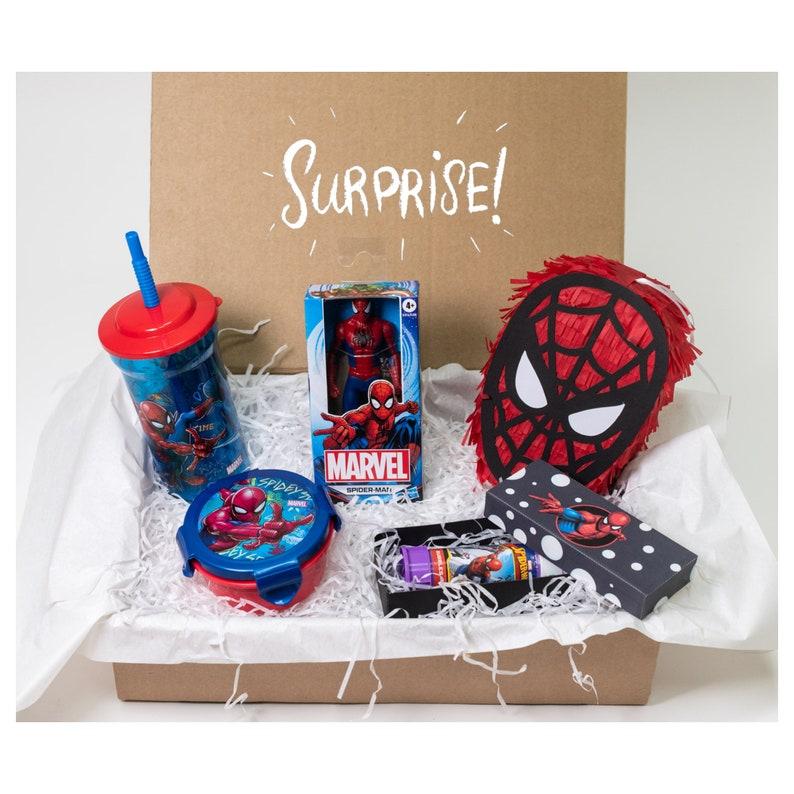Christmas present children's birthday gift box Spiderman image 0