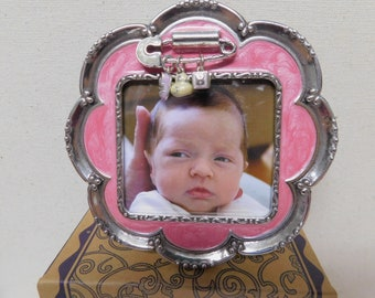 Pink Chevron Girls Photo PICTURE FRAME All of God/'s Grace for Kids Bedroom Baby Nursery PF0057