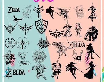 Zelda Silhouette Etsy