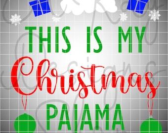 Christmas Pajama Shirt SVG, Christmas SVG, Christmas Pajamas, Family Christmas Pajamas, Holiday Shirt Christmas Gift svg, svg, eps, png