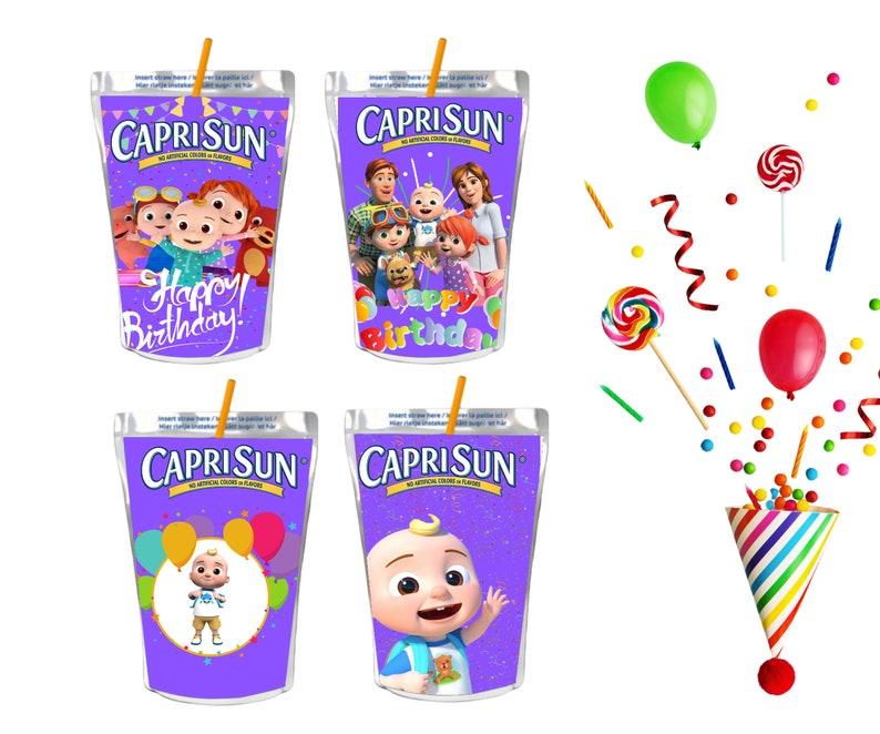 digital labels printable cocomelon juice labels Cocomelon Capri Sun labels cocomelon party Cocomelon Digital Printable Instant Download