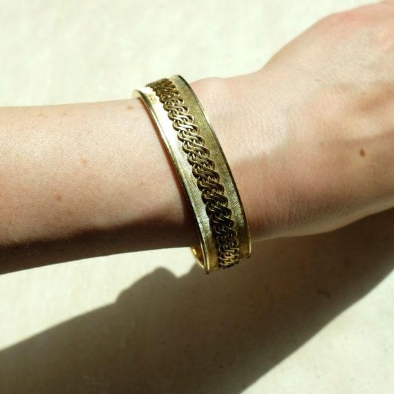 vintage gold bracelet, gold bangle, vintage bangle
