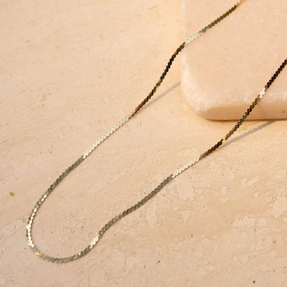 14k chain, gold necklace, gold chain, dainty chain