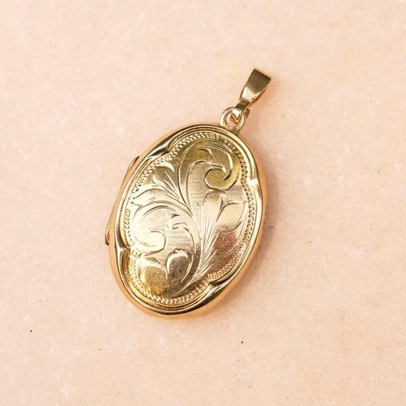 vintage 14k gold locket, gold locket, 14k locket,