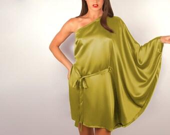 Mini Chartreuse Silk Kaftan