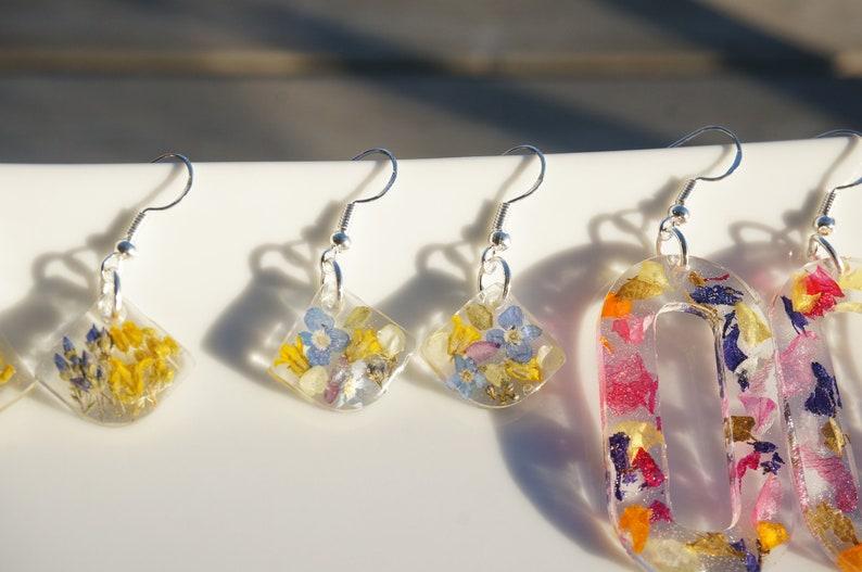 Birthday gift Jewelry Wedding earrings Anniversary gift Earrings Gift for her Christmas gift Real Flower Botanical Jewelry