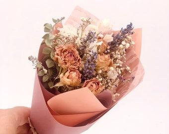 Petite Mini Dried Flower Bouquet, Natural Everlasting Dry Flowers, Floral Decor, Flower Arrangement, Home and Living Decor, Cute Present