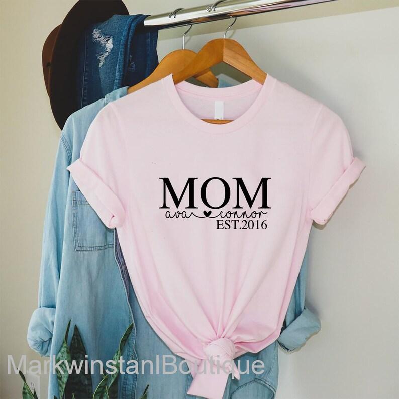 Mom shirt Mama Shirt Personalized Mom shirt Kid Names Shirt Mom Gift Customized Mom Shirt Mother/'s day gift Custom children/'s Name