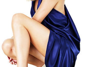 Goddess Navy Dress