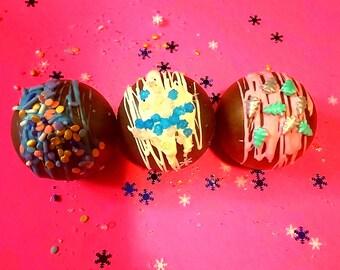 Bridal treats Personalized Gift Chocolate treats Stocking Stuffers Baby shower treats Wedding favors Hot Chocolate Bombs