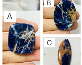 Rarest Sodalite Cabochon Top Quality Sodalite loose stone Natural Blue Sodalite Cabochon Natural Sodalite Gemstone