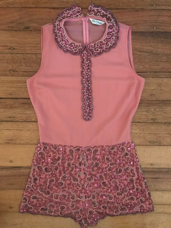 Gorgeous diva pink beaded playsuit