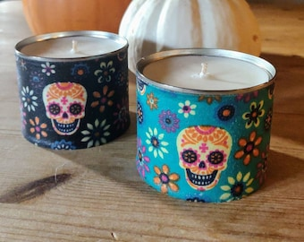 Trick or Treacle Toffee Scented Candle - Halloween Sugar Skull Candle