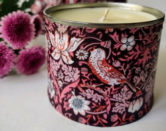 Autumn Black Orchid Scented Soy Candle, Stawberry Thief Candle, Black Orchid Scented Candle