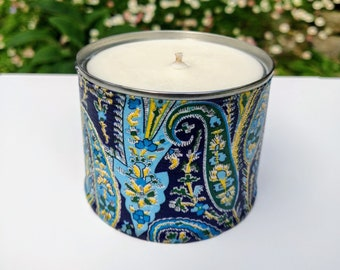 Sandalwood & Black Pepper Soy Scented Paisley Candle, Exotic Scented Candle, Sweet Musky Candle