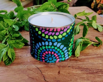 Eucalyptus & Mint Scented Soy Candle, Aromatic Candle, After Cooking Candle