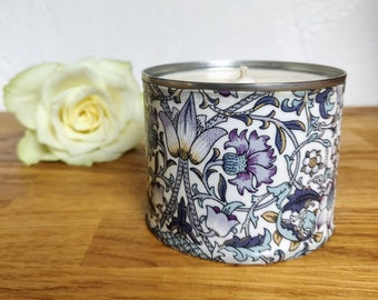 Sandalwood & Black Pepper Soy Scented Grey Candle, Exotic Scented Candle, Sweet Musky Candle