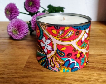 Mandarin, Sandalwood & Honeysuckle Soy Scented Candle, Funky Candle, Vibrant Candle Gift